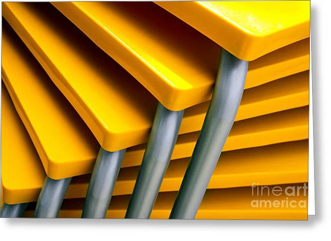 Yellow Tables Greeting Card by Carlos Caetano