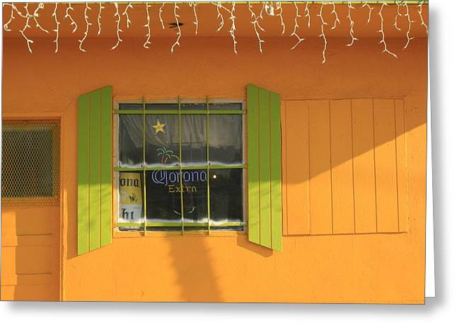 Yellow Window Greeting Card
