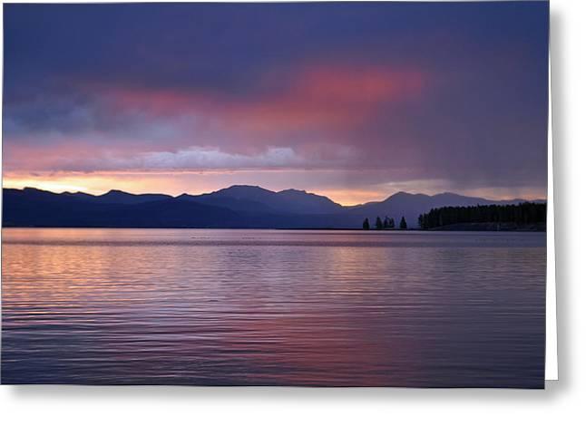 Yellowstone Lake Sunrise IIi Greeting Card