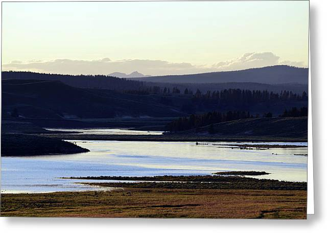 Yellowstone Landscapes Greeting Card