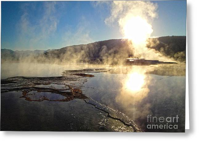 Yellowstone National Park - Minerva Terrace - 02 Greeting Card by Gregory Dyer