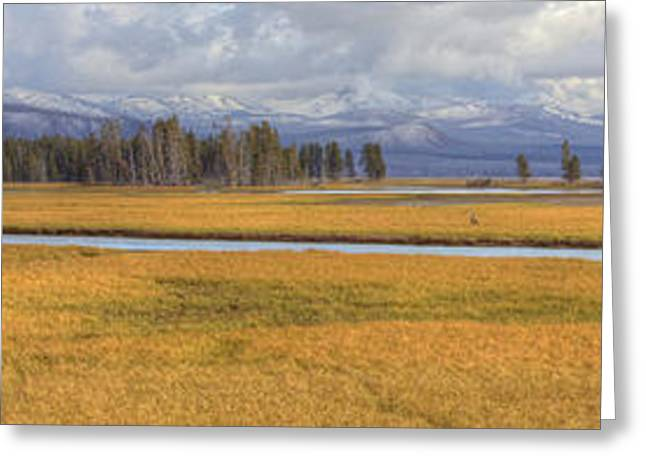 Yellowstone River Valley Greeting Card by Twenty Two North Photography