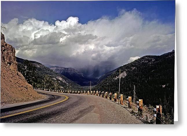 Yellowstone Under Lowering Skies Greeting Card by Rod Jones