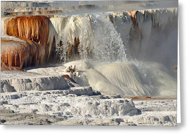 Yellowstone's Canary Springs 003 Greeting Card by Bruce Gourley