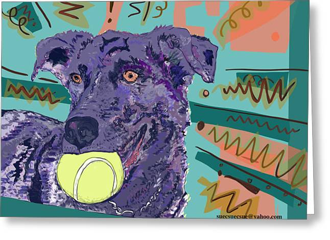 Yes Sashi We Know Greeting Card by Susie Morrison