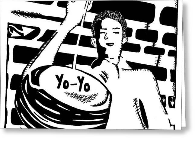 Yo Yo Maze Greeting Card by Yonatan Frimer Maze Artist