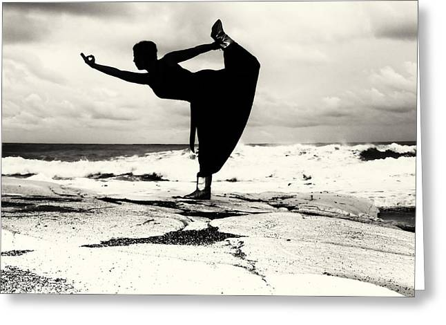 Yoga Balance Greeting Card by Stelios Kleanthous