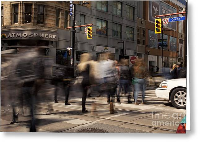 Yonge And Queen Street Intersection Greeting Card by Igor Kislev