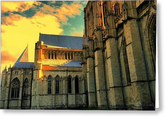 #york #uk #england #greatbritain #great Greeting Card