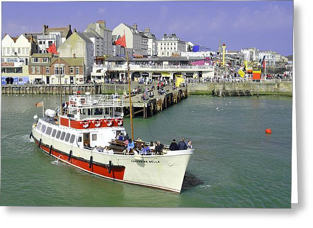 Yorkshire Belle Turning In Bridlington Harbour Greeting Card by Rod Johnson