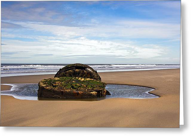Yorkshire Coast Greeting Card by Svetlana Sewell