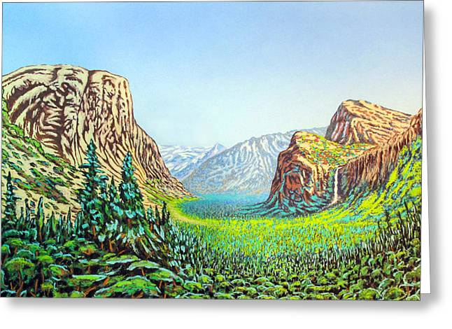 Yosemite Greeting Card by David Linton