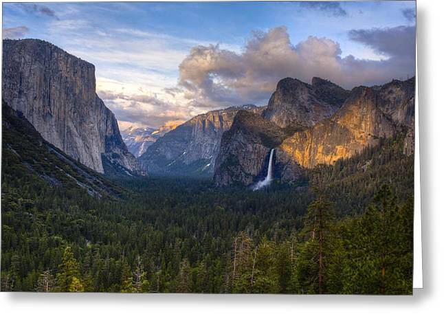 Yosemite Sunset Greeting Card by Jim Neumann