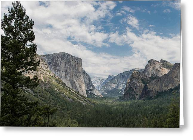 Yosemite Valley From Tunnel View At Yosemite Np Greeting Card