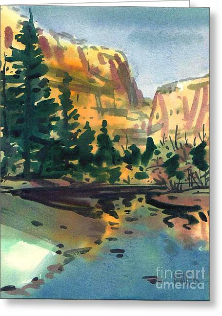 Yosemite Valley In January Greeting Card