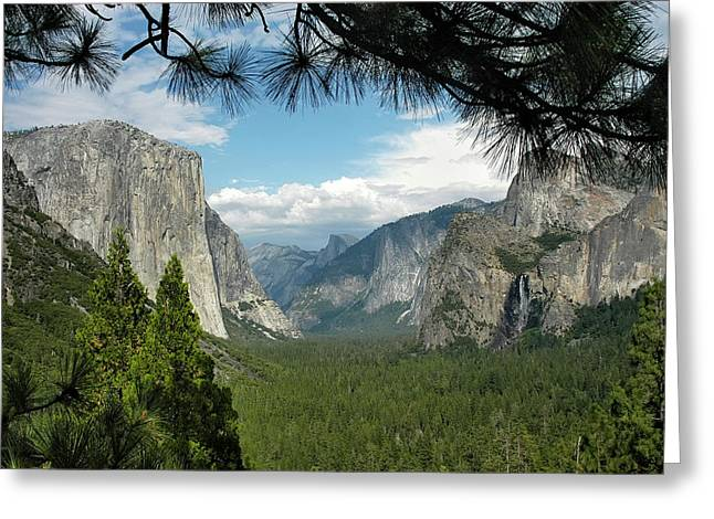 Greeting Card featuring the photograph Yosemite's Tunnel View by Geraldine Alexander
