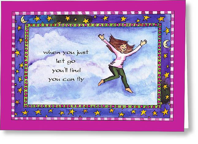 You Can Fly Greeting Card by Pamela  Corwin