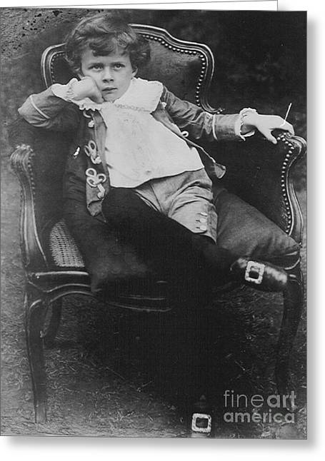Young Aldous Huxley, English Author Greeting Card