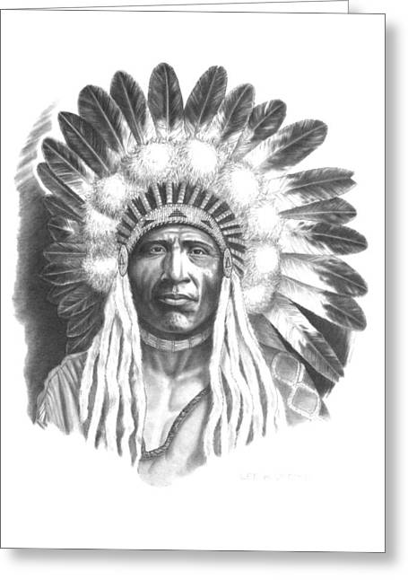 Young Blackfoot Greeting Card by Lee Updike