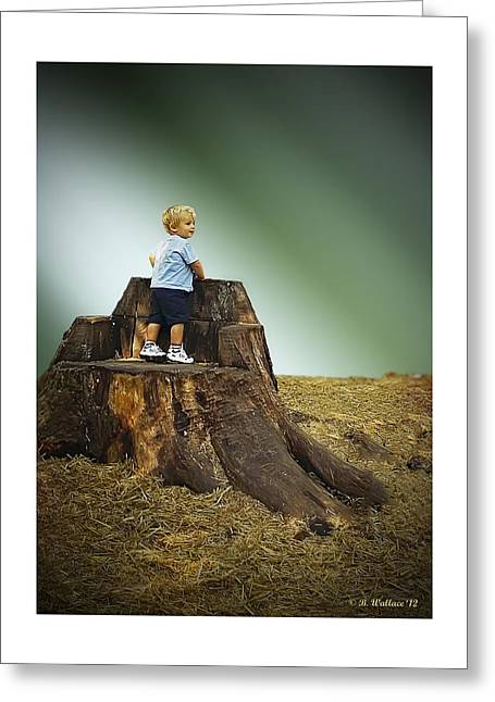 Young Boy Greeting Card by Brian Wallace