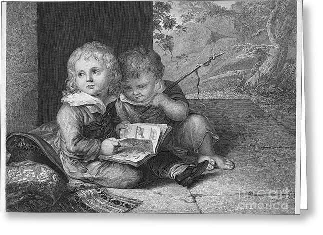 Young Boys, C1795 Greeting Card by Granger