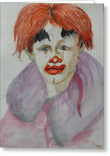 Young Clown Greeting Card by Betty Pimm