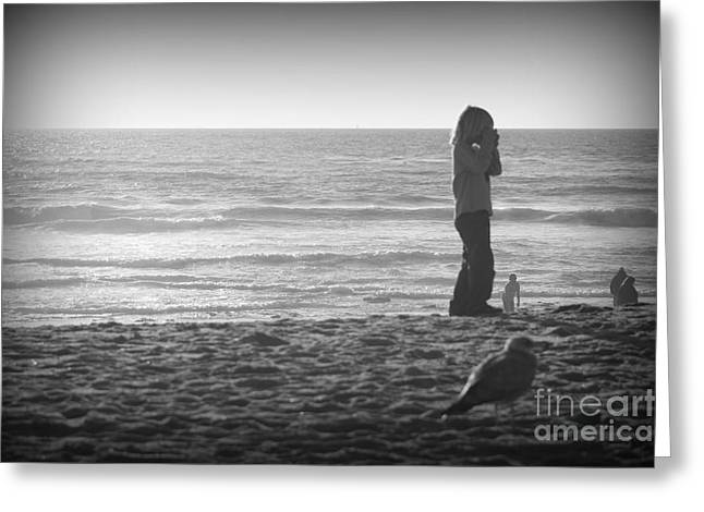 Young Professional Photographer Greeting Card by Trude Janssen