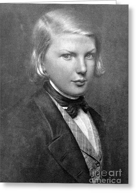 Young Victor Hugo, French Author Greeting Card by Photo Researchers