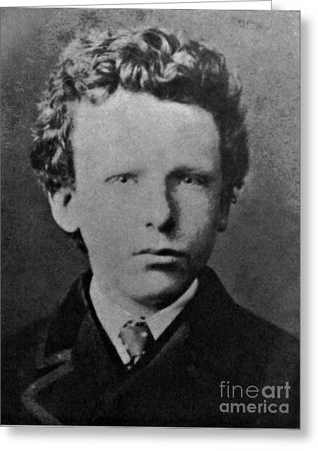 Young Vincent Van Gogh, Dutch Painter Greeting Card by Photo Researchers