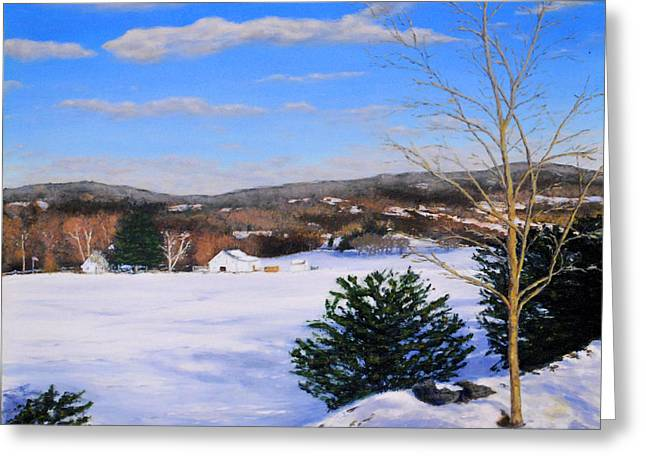Youngs Road Brooklyn Ct Greeting Card