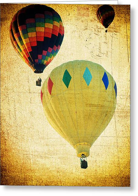 Your Balloon Ride Greeting Card by James Bethanis