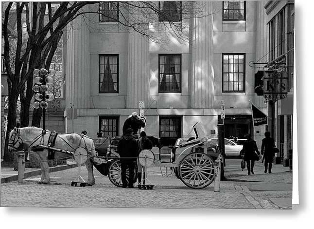 Your Carriage Awaits Greeting Card by Kristine Patti