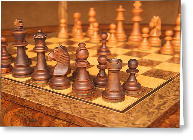 Your Move Greeting Card by Graham Hawcroft pixsellpix