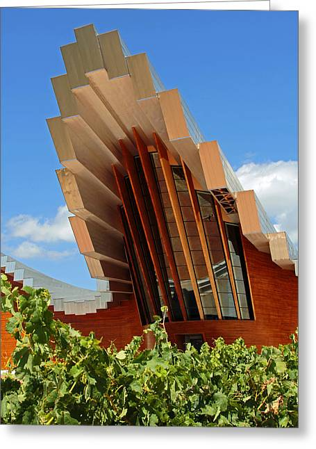 Ysios Winery Spain Greeting Card by John Stuart Webbstock
