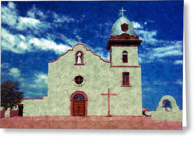Ysleta Mission Texas Greeting Card by Kurt Van Wagner