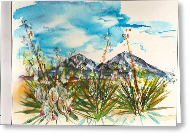 Yucca And Huajatolla Peaks Greeting Card