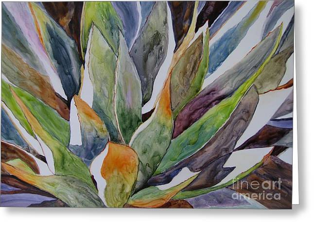 Yupo - Agave Greeting Card by Vicki Brevell