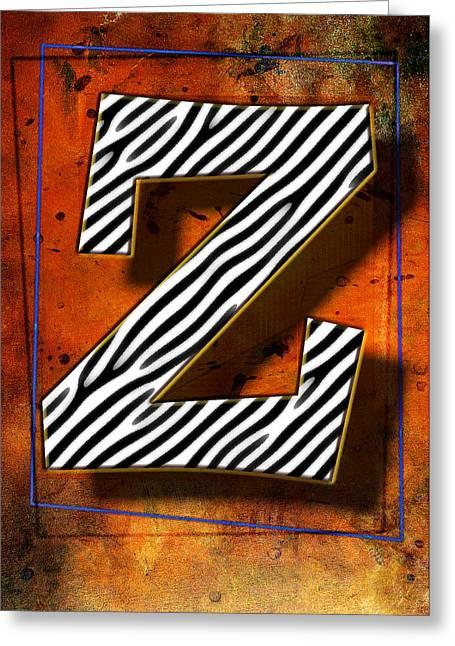 Z Greeting Card by Mauro Celotti
