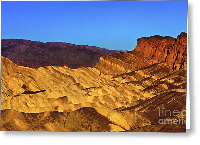 Zabriskie At Sunrise Greeting Card by Mark East