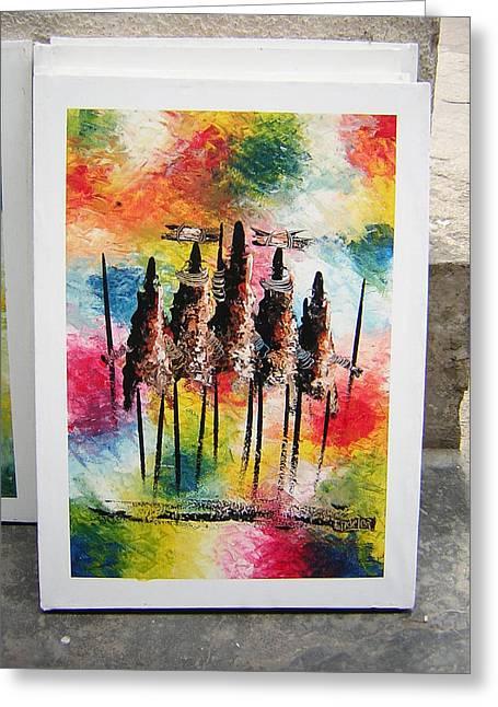 Zanzibar Art Greeting Card by Endelea