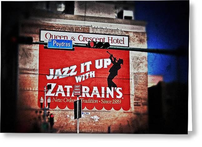 Zatarain's Building Sign Greeting Card