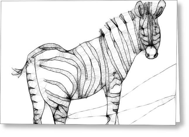 Zebra Doodle Greeting Card by Arline Wagner