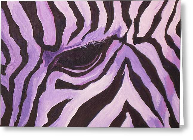Zebra Greeting Card by Sandy Tracey