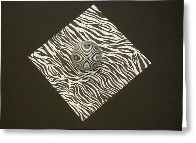 Greeting Card featuring the photograph Zebra Square by Douglas Fromm