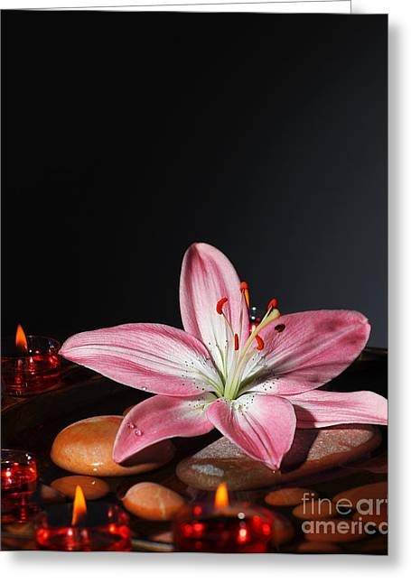 Zen Atmosphere At Spa Salon Greeting Card by Anna Om