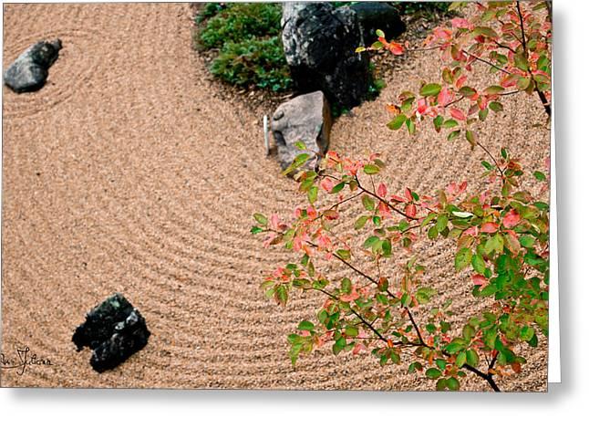 Zen Buddhist Meditation Garden No.1 Greeting Card by Iuliana Pacso
