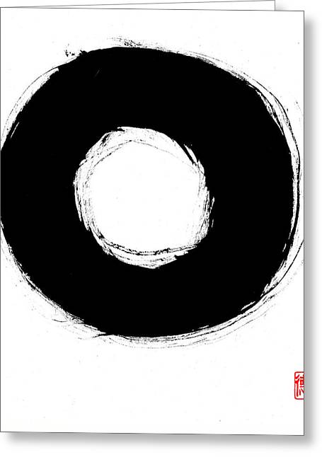 Zen Circle Seven Greeting Card by Peter Cutler