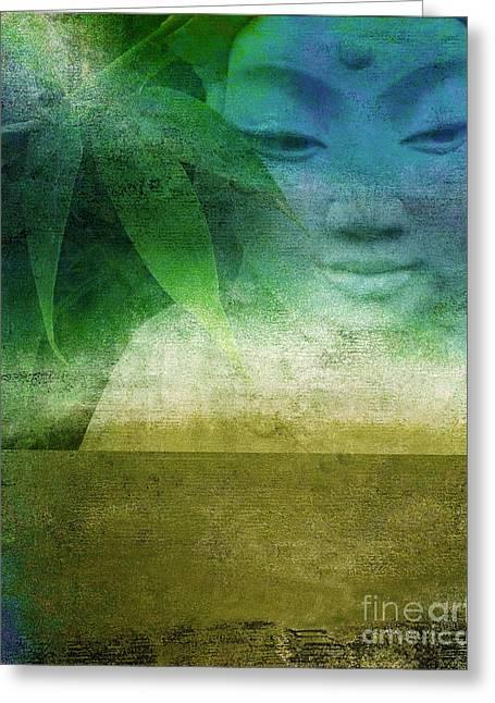 Zen Garaden Greeting Card by Ricki Mountain