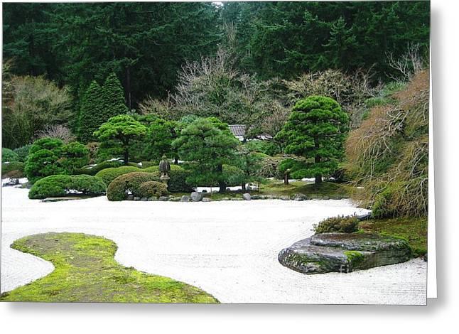 Zen Garden Greeting Card by Melissa Stinson-Borg