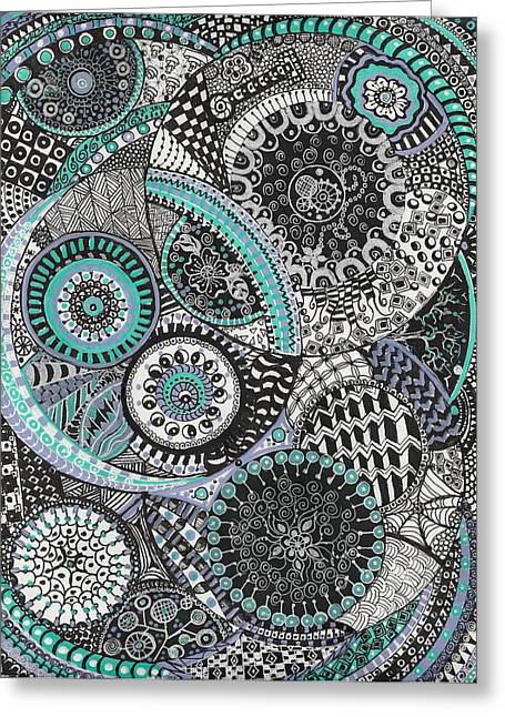Zentangle Greeting Card by Lynne Howard